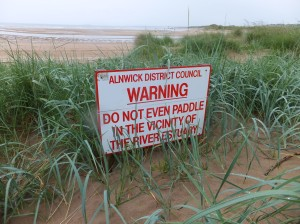 Warning at Alnmouth