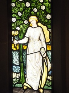Made by Morris and Co., though designed by Edward Burne-Jones.