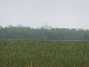 Last glimpse of Warkworth Castle