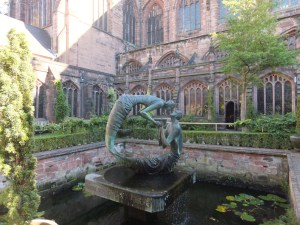 Chester Cathedral cloister garden