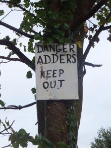 Adder warning