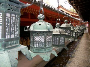 Lanterns at a Shinto shrine